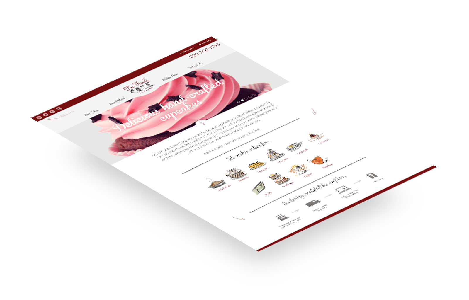 Family Cakes responsive website